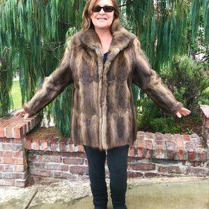 Silky Muskrat Fur Jacket Dropped Yolk From Germany